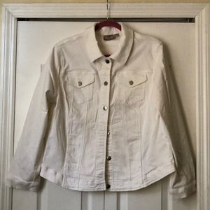 NWOT Chico's White denim jacket